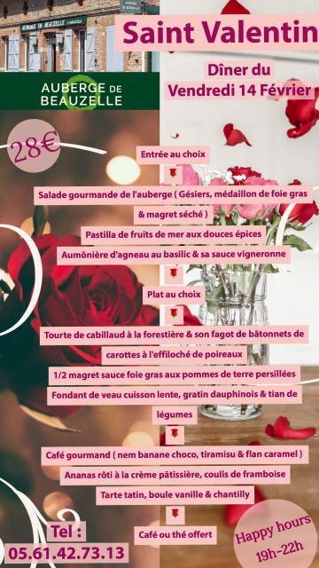 Menu Saint Valentin 2020